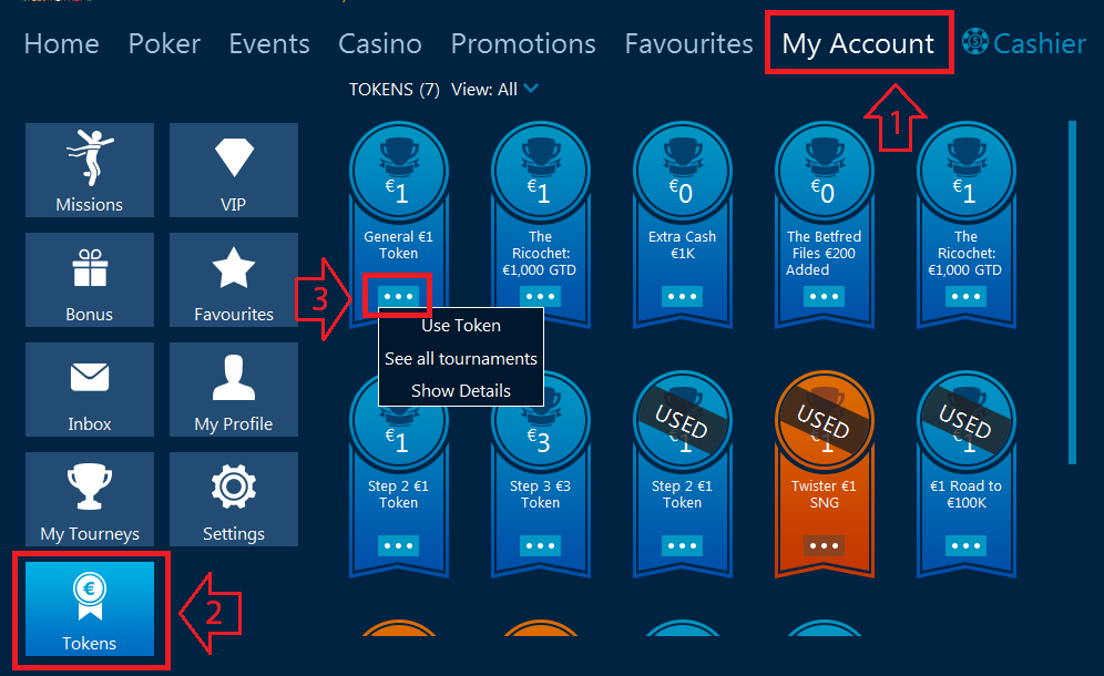 tutorials token betfred